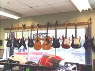 We offer a wide variety of guitars.