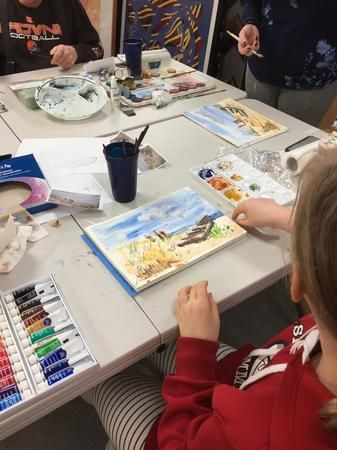 One of our fun watercolor classes