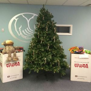 We collected toys for Marine Toys for Tots.