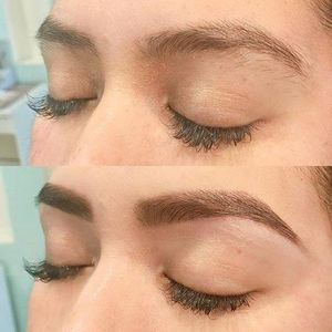 Before and after brow design