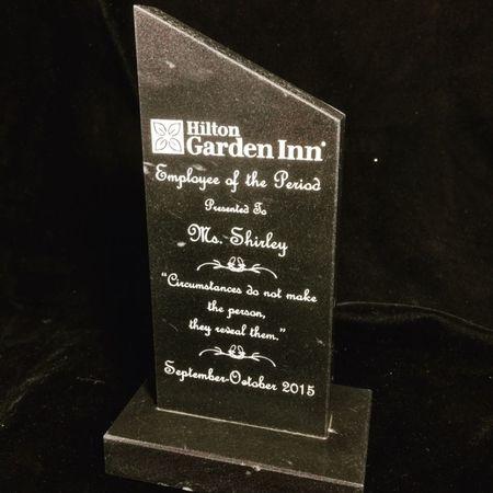 Hilton Garden Inn, Black Marble Viewpoint Award.