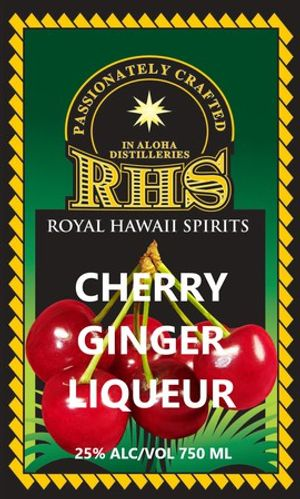 cherry ginger flavored rum or vodka by rhs llc