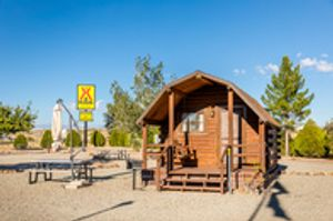 No tent, no problem! Rent our cozy camping cabin!