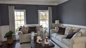 These gorgeous draperies transforms the room to be soft and elegant