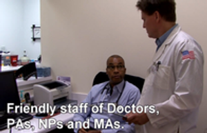 Friendly staff of Doctors, PAs, NPs and MAs.
