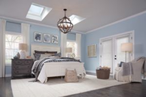 VELUX Skylights in Master Bedroom by Legacy Roofing LLC