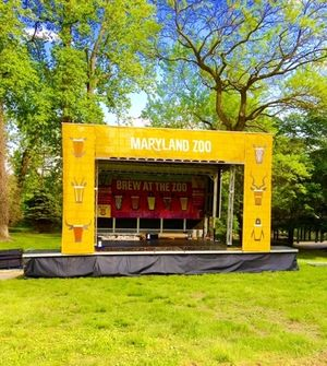 Apex 2016 mobile stage rental for Brew In The Zoo event at the Baltimore Zoo in Maryland.