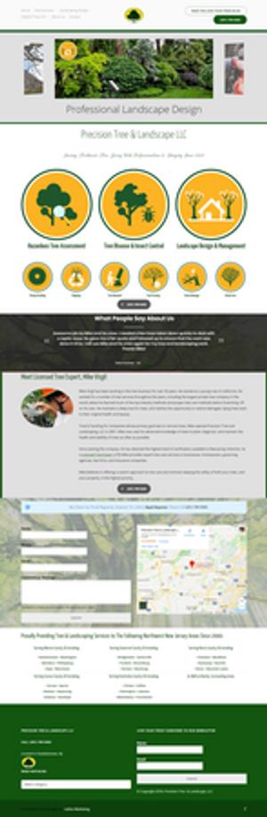 Web Design for a Tree Service in Hackettstown, NJ. Design by Lattice Marketing.