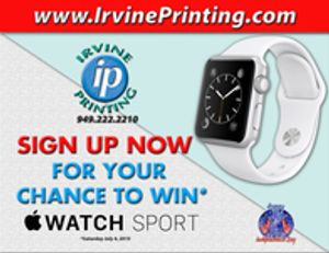 Place an order online to be automatically entered into a drawing for a chance to win an Apple Watch Sport