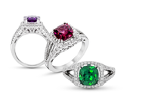 Precious gemstones make beautiful, eye-catching center rings. If you aren't looking for a diamond center, we offer many other gemstones of various sizes and cuts to match your taste.