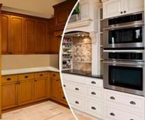 Change the look of your kitchen with fresh white cabinets!