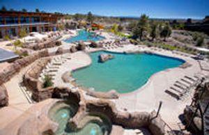 Outdoor Resort Pool with Waterslide