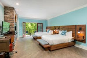 Margaritaville Island Hotel beautiful large rooms each with balcony, fireplace, sitting area and wet bar.