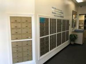 Get a feel for our store... this is our main lobby area with our private mailboxes available to rent.