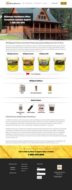 Web Design for a Product Distributor in Mt. Bethel, Pennsylvania. Design by Lattice Marketing.