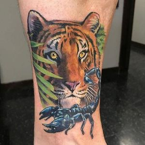 Tiger and scorpion tattoo