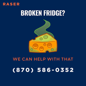 The weather is heating up, which means there's no time for your refrigerator to be broken! Keep us in mind and we'll fix it.