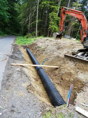 Setting in culvert for driveway