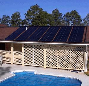Pool House Solar Roof Panels