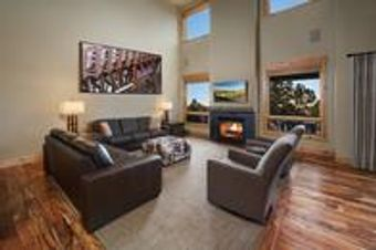 Two Story, Four Bedroom Cabin Living Room