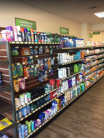 Some of the supplies we offer at our attached drugstore.