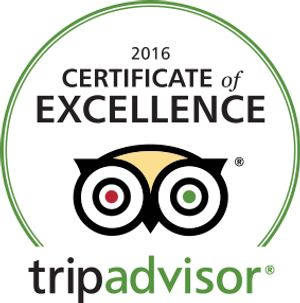 Certificate of Excellence, year after year after year at Hotel Nauvoo