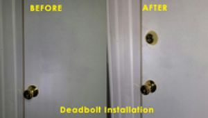before and after Lock Installation