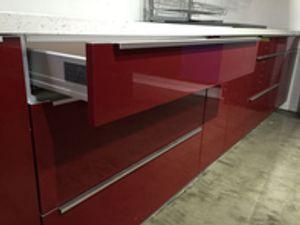 Modern Z-Serie Ruby Red Kitchen Cabinets https://www.cabinetdiy.com/modern-kitchen-cabinets