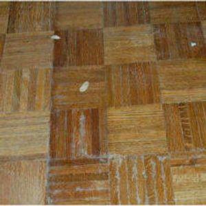 Damaged, old Wood Floor BEFORE resurfacing