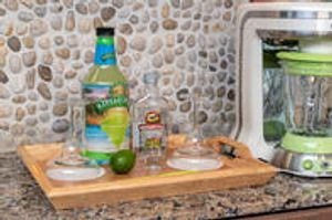 Margaritaville Island Hotel every guest has a wet bar with a Frozen Concoction Maker.