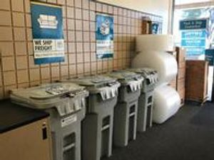 Get a feel for our store... this is our main lobby area where we provide shredding self service.