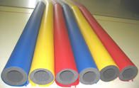 We offer foam pole bumpers with vinyl.