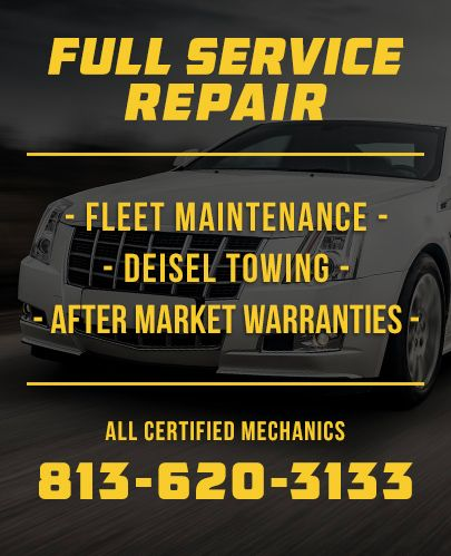 Dash Automotive, Inc. offers full service repair for fleet maintenance - diesel towing and after market warranties with all certified mechanics on staff.