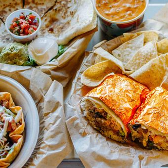 Flavorful burritos, quesadillas and salads are all made with freshly prepared, in-house ingredients like hand-smashed guacamole and pico de gallo.