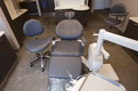 The inside of our treatment space, including equipment and technology.