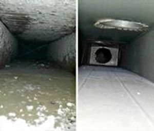Before and After cleaning of HVAC Duct system