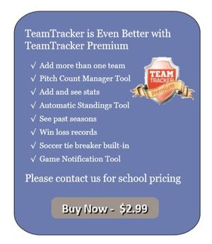 Team Tracker - Player stats tracking, team schedules, team rankings for district and conference,