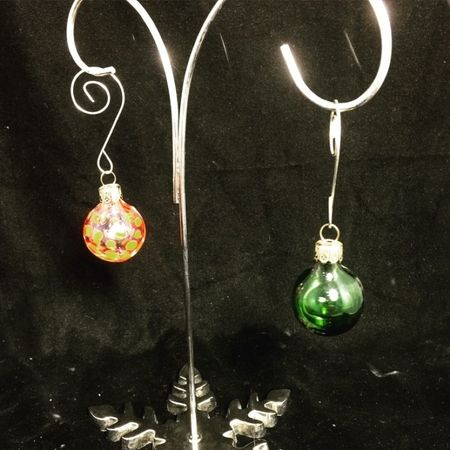 Mini blown glass ornaments. Only $5. Christmas in October.