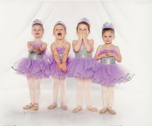 """Princess Ballet -- ages 3-5 or our next step up Pre-Dance with ballet and a little """"Disney-style"""" jazz encourages EXPRESSION along with all the dance basics. THESE KIDS HAVE LOADS OF FUN!"""