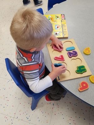 In our two year old classroom, children make new discoveries daily. Our holistic approach in the classroom engages young minds with the early learning fundamentals they'll need as they continue on to preschool.