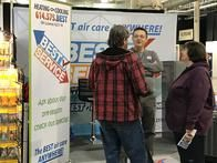 Talking with potential customers at the Fall Home Show 2018!