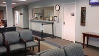 The reception area at our clinic