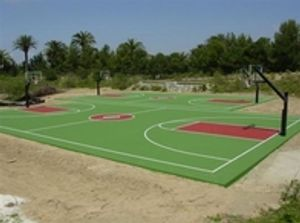 Basketball court contractor San Diego