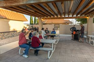 Available for groups - enjoy the covered patio with grill & picnic tables.