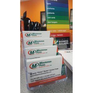 Minuteman Press San Antonio Business Cards