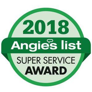 2018 Angie's List Super Service Award Recipient!