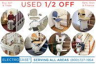 Used acorn stairlift and Bruno inexpensive stairlifts for indoor outdoor outside exterior chair lifts