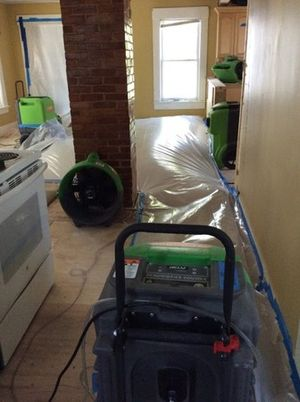 water damage restoration using our drying equipment