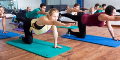 One of our group yoga classes