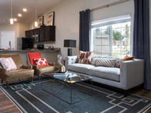 Grimes apartment rental by Redwood Living. Redwood Grimes single story pet friendly homes with spacious living rooms